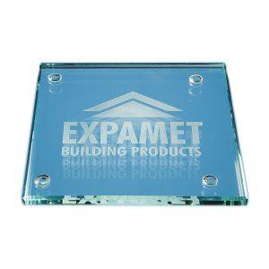 10cm Jade Glass Square Coaster